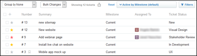 Assembla Tickets screenshot